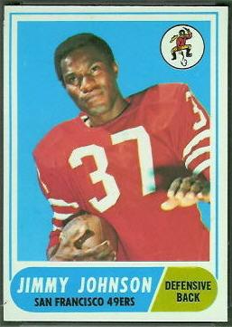 Jim Johnson 1968 Topps football card