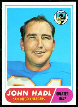 John Hadl 1968 Topps football card