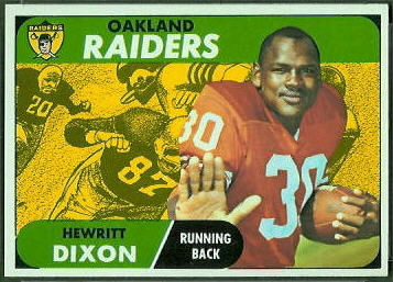 Hewritt Dixon 1968 Topps football card