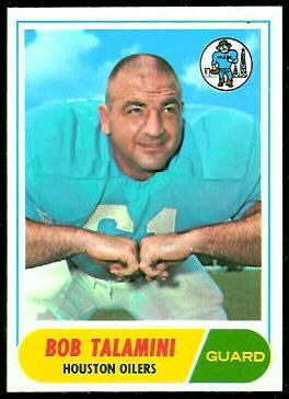 Bob Talamini 1968 Topps football card