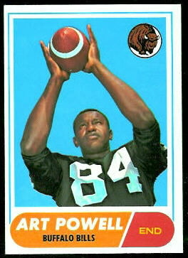 Art Powell 1968 Topps football card