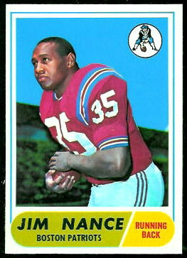 Jim Nance 1968 Topps football card