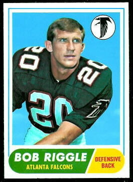 Bob Riggle 1968 Topps football card