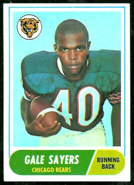 Gale Sayers 1968 Topps football card