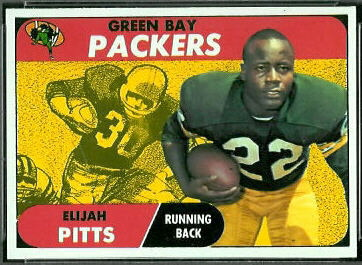 Elijah Pitts 1968 Topps football card