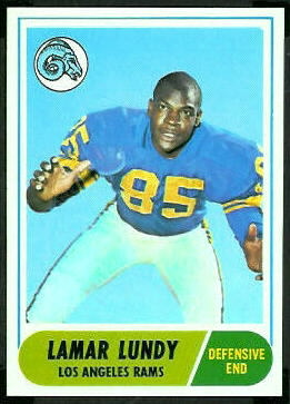 Lamar Lundy 1968 Topps football card