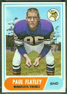 Paul Flatley 1968 Topps football card