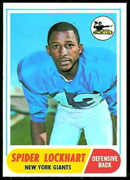 Spider Lockhart 1968 Topps football card