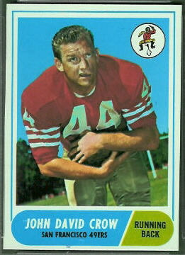 John David Crow 1968 Topps football card