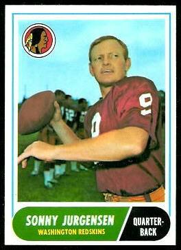 Sonny Jurgensen 1968 Topps football card