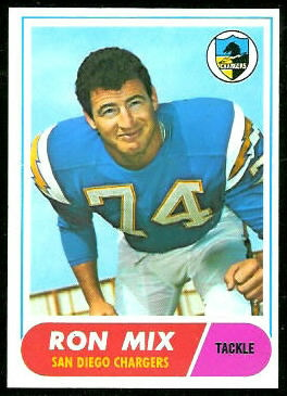 Ron Mix 1968 Topps football card