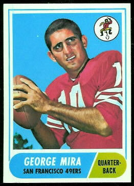 George Mira 1968 Topps football card