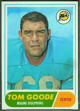Tom Goode 1968 Topps football card