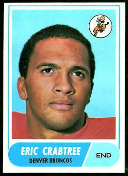 Eric Crabtree 1968 Topps football card