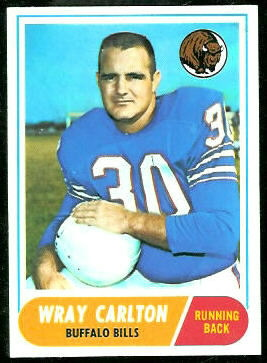 Wray Carlton 1968 Topps football card
