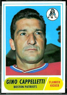 Gino Cappelletti 1968 Topps football card