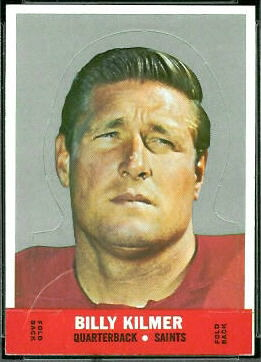 Bill Kilmer 1968 Topps Stand Up football card