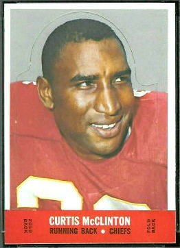Curtis McClinton 1968 Topps Stand Up football card