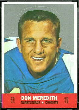 Don Meredith 1968 Topps Stand Up football card