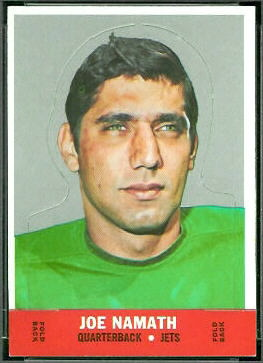 Joe Namath 1968 Topps Stand Up football card