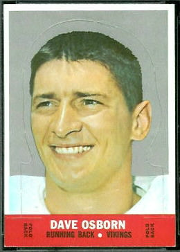 Dave Osborn 1968 Topps Stand Up football card
