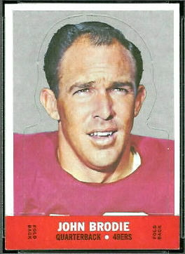 John Brodie 1968 Topps Stand Up football card