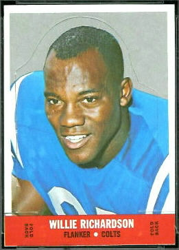 Willie Richardson 1968 Topps Stand Up football card