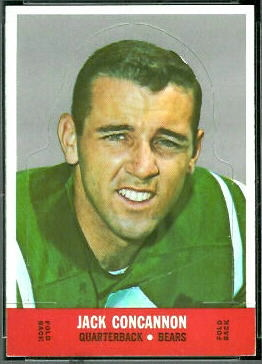 Jack Concannon 1968 Topps Stand Up football card