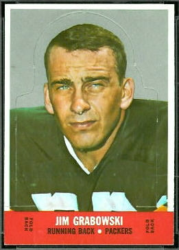 Jim Grabowski 1968 Topps Stand Up football card
