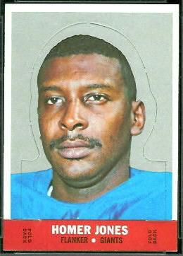 Homer Jones 1968 Topps Stand Up football card