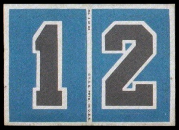 1 and 2 1968 Topps Test Team Patches football card