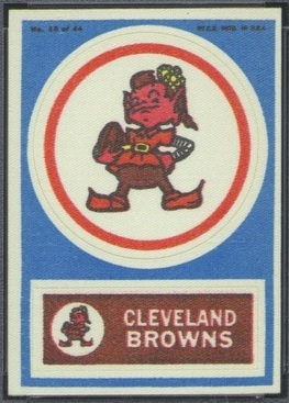 Cleveland Browns 1968 Topps Test Team Patches football card