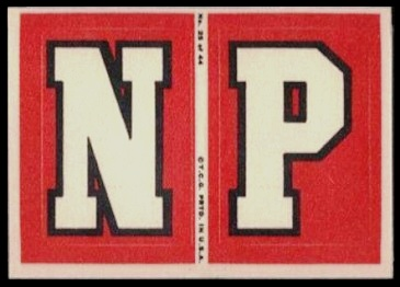 N and P 1968 Topps Test Team Patches football card