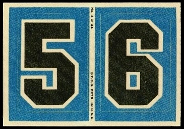 5 and 6 1968 Topps Test Team Patches football card