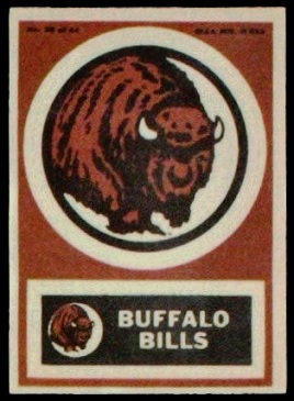 Buffalo Bills 1968 Topps Test Team Patches football card