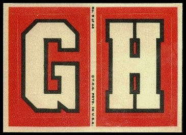 G and H 1968 Topps Test Team Patches football card