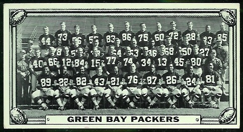 Green Bay Packers Team 1968 Topps Test Team Photos football card