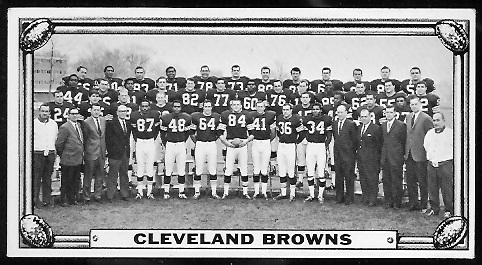 Cleveland Browns Team 1968 Topps Test Team Photos football card