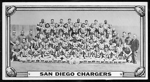 San Diego Chargers Team 1968 Topps Test Team Photos football card