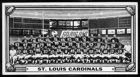 St. Louis Cardinals Team 1968 Topps Test Team Photos football card