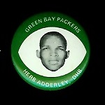 Herb Adderley 1969 Drenks Packers Pins football card