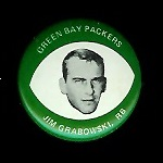 Jim Grabowski 1969 Drenks Packers Pins football card