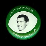 Forrest Gregg 1969 Drenks Packers Pins football card