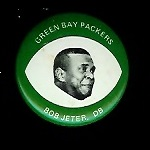 Bob Jeter 1969 Drenks Packers Pins football card