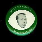 Bart Starr 1969 Drenks Packers Pins football card