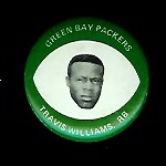 Travis Williams 1969 Drenks Packers Pins football card