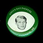 Donny Anderson 1969 Drenks Packers Pins football card