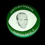 Carroll Dale 1969 Drenks Packers Pins football card