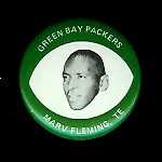Marv Fleming 1969 Drenks Packers Pins football card