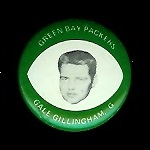 Gale Gillingham 1969 Drenks Packers Pins football card